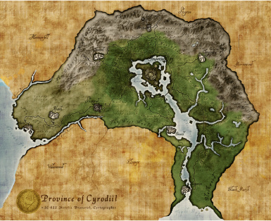 Desaturated map of Cyrodiil