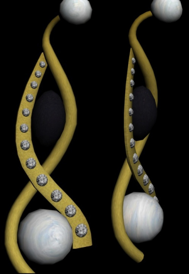 smoothed earrings