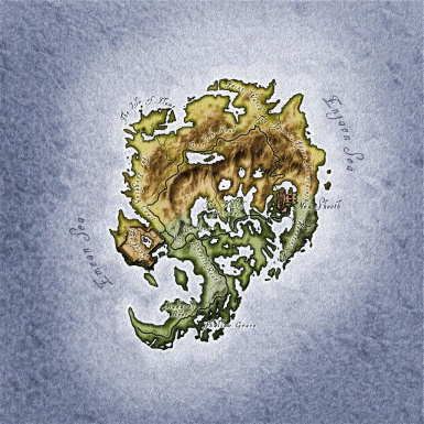 Shivering Isles Elven Map