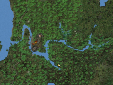 Terrain Map style with Panther River and Bartholm