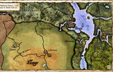 Elven Map style with Elsweyr and Bartholm