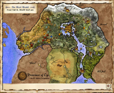 Elven Map style - zoomed out