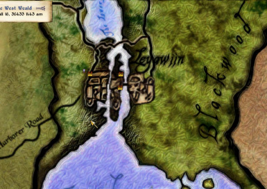 Elven Map style - Leyawiin zoomed in
