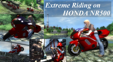Extreme Riding on HONDA NR500