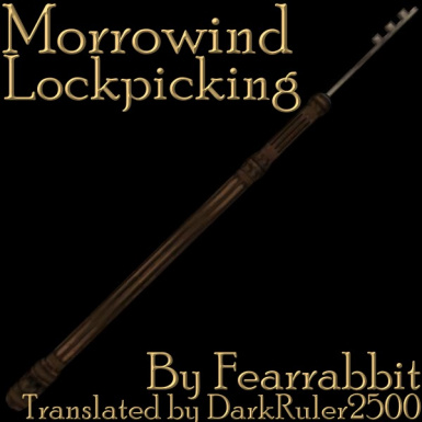 Morrowind Lockpicking DV