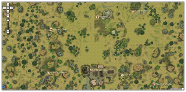 The region of Fort Sutch as seen in game