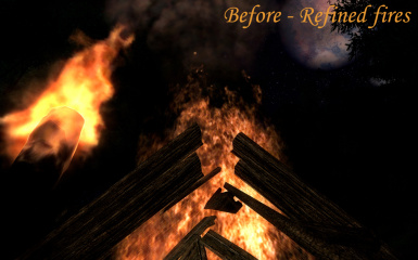 Large fire and torch - Refined fires