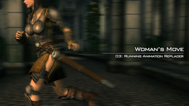Womans Move - Female Running Animation Replacer