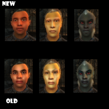 High resolution face textures for all humanlike races