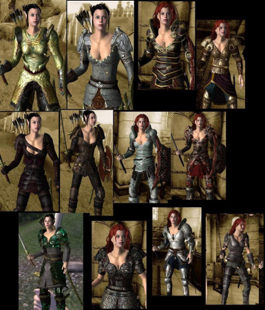 Female Armor Pack nonomod