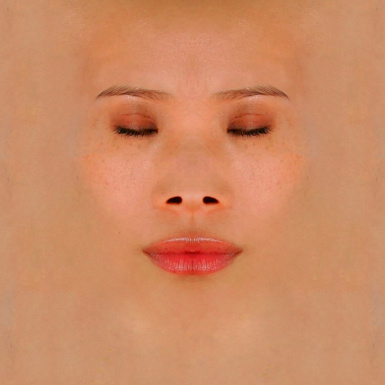 Photo realistic female face texture for head06