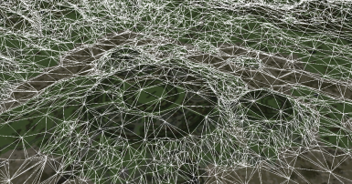 A detailed view of the generated IC mesh