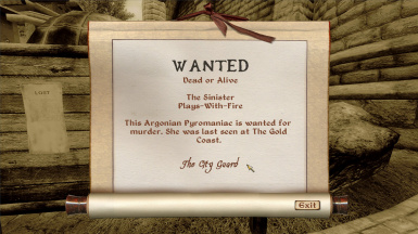 My character's wanted poster