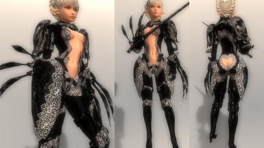 Gothic Glass Bodyarmor and Dark and Deep Crimson Wing