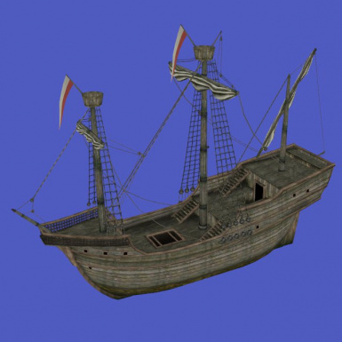 Full Cog Ship with Door Frame and Helm