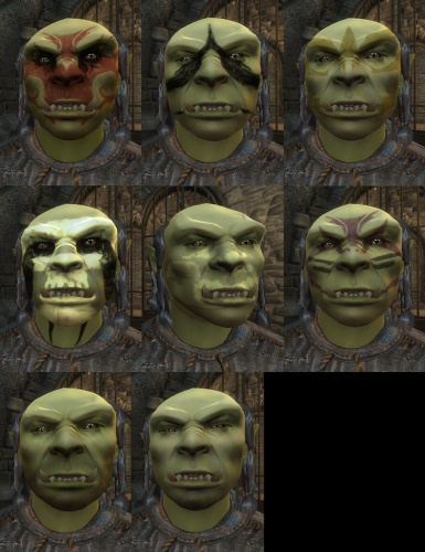 Male orc warpaint and beards