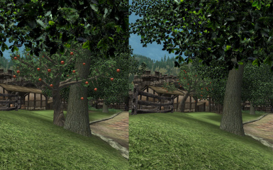 Chorrol Stables Before and After