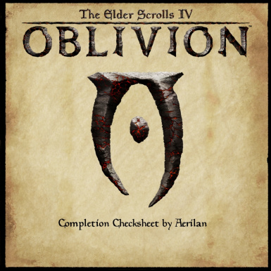Oblivion Completion Checksheet
