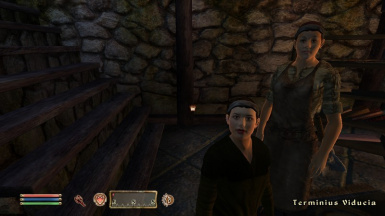 Mother and son in Cheydinhal