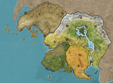 tamriel extended colored map