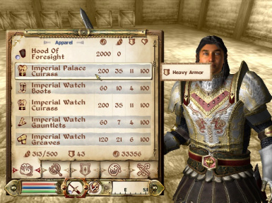 Wearable Palace and Watch Armor