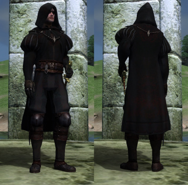 Black Hand Robe Replacer
