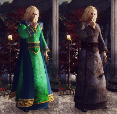 Aqua Silk and Tattered Robes Replacer