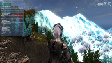 Proving glowing mountains are not an ENB fault but a combination of it and Lush and gaudy