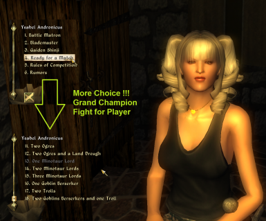 more choices for player grand champion arena fight