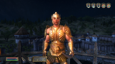 Belenus modelling the new Bound Armour and Helmet