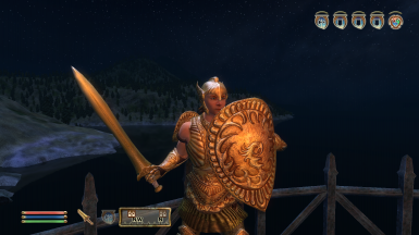 Bound Regalia: Ethereal Gladiator - Shield stance