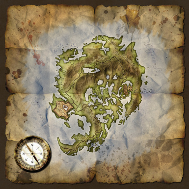 Used Old Map for Shivering Isles