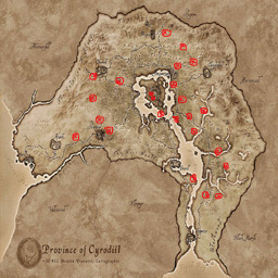 Map of goblin's dungeon in Cyrodill.