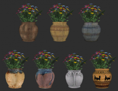 All different Flax Flowerpots