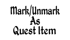 Mark Or Unmark As Quest Item