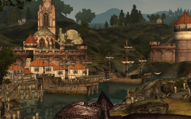 Anvil harbor. Mods in the picture: Optimized VWD and VWD for Town Houses