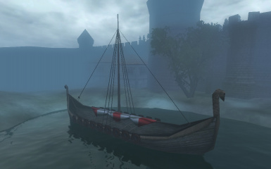 Nord Longship in Anvil (Mod: Better Cities)