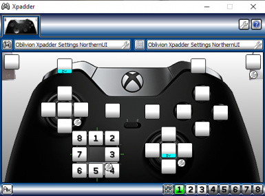Oblivion Xbox Controller Xpadder Settings For Northern UI