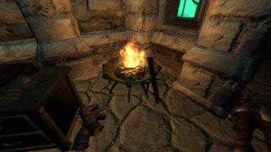 Both braziers can be lit to make things a bit more visible.