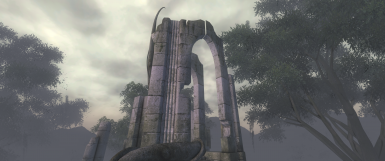 Atatar Exterior. Location from original game, note the gaps at the top of the arch