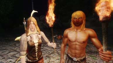 NPCs Travel: Speick the Witchhunter and Dieq the Monk before