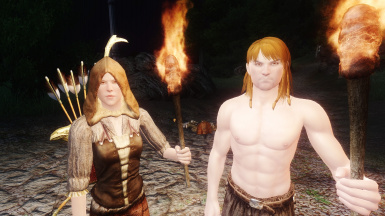 NPCs Travel: Speick the Witchhunter and Dieq the Monk after