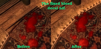 Fixed Blood Decal