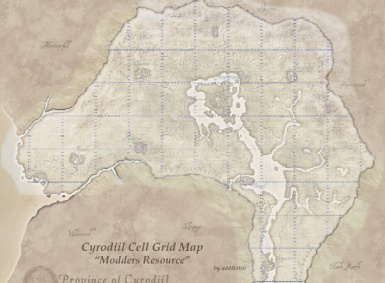 OB Cyrodiil Cell Grid Map at Oblivion Nexus - mods and community