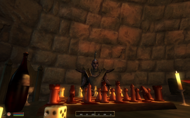 Ahh a candlelight chess game with a beer