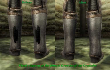 Female Greaves Of The Crusader