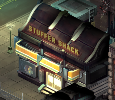 Fixed Stuffer Shack Sign