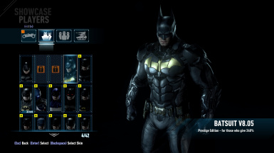 Prestige Suit At Start of Game