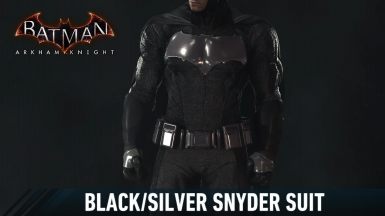 Black and Silver Snyder Batsuit