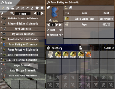 Craftable Perk Books and Schematics
